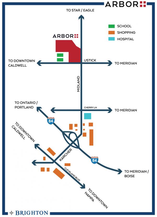 Arbor Local Area Map
