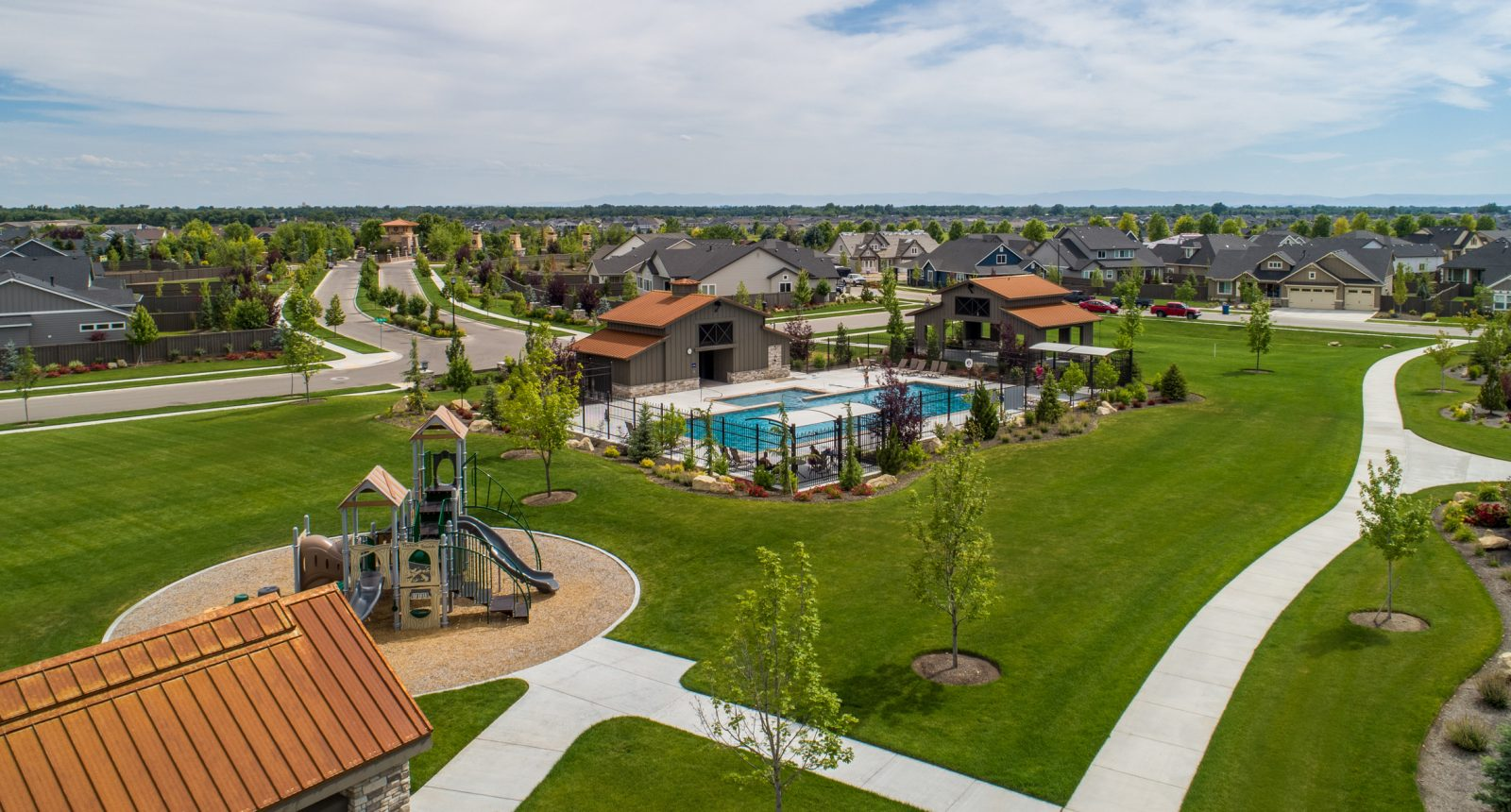 Homestead Pool and Pavilion Aerial