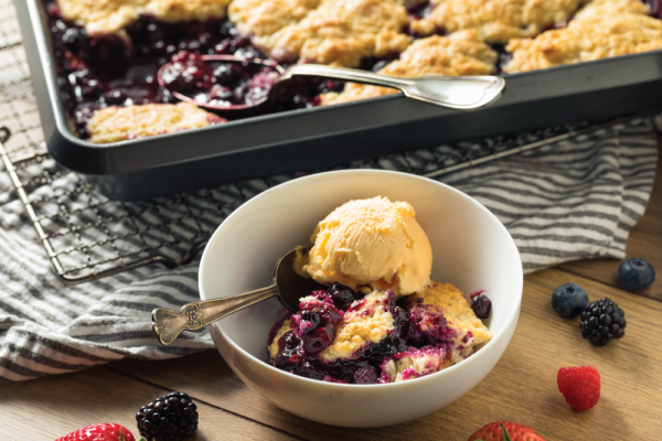 Late Summer Blackberry Crumble